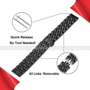 42/44mm Solid Metal Stainless Steel Chain Wrist Watch Strap