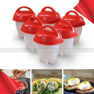 6pcs Egg Cooker Hard Boiled Eggs Without The Shell Cooking