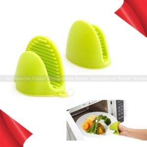 2pcs Kitchen Non-slip Insulation Glove Microwave Oven Pot