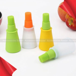 Grill Oil Bottle Heat Resisting Silicone BBQ Basting Oil Brush