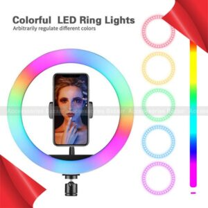 LED Ring Light Colorful USB Lamp For Photo Video Studio