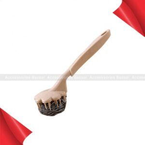 Cleaning Brush Handle Steel Ball Kettle Pan Dish Kitchen Bathroom