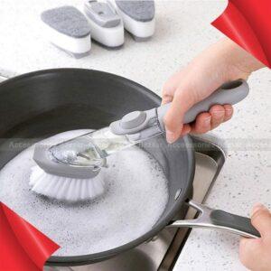 Cleaning Brush Scrubber Dish Bowl Washing Sponge Liquid Dispenser