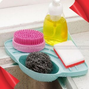 Kitchen Tools Sink Corner Storage Rack Sponge Holder Suction Cup