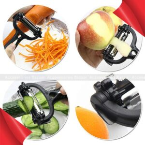 3in1 Multifunctional 360 Potato Peeler Vegetable Cutter Fruit Grater