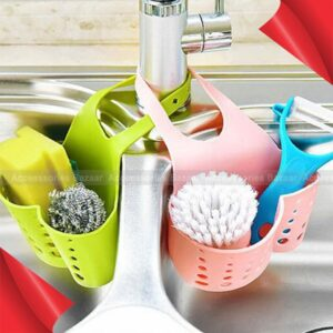 Kitchen Sponge Drain Holder Toilet Soap Shelf Sink Hanging Strainer
