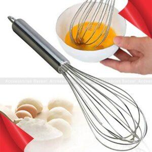 Manual Stainless Steel Egg Beater Hand Whisk Mixer Egg Cream