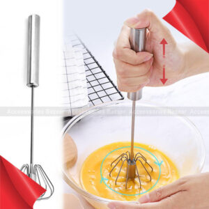 Stainless Steel Semi-automatic Egg Beater On For Fast Useful Egg Stiring Tool