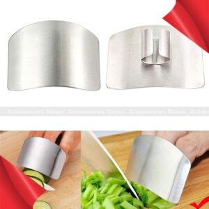 Kitchen Stainless Steel Finger Protector Cutting Guard Safe Slice Knife Tool