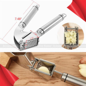 Stainless Steel Garlic Press Chopper Ginger Press Multifunction Use