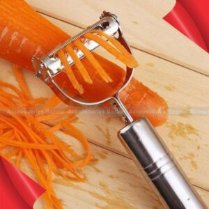 Stainless Steel Ultra Sharp Dual Julienne & Vegetable Fruits Peeler