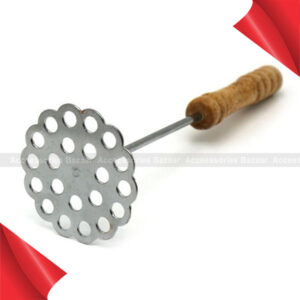 Stainless Steel Potato Masher With Broad Mashing Plate Fruit Vegetable Tools Press