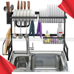 Stainless Steel Bowl Rack Dish Rack Dish Drying Rack Over Sink Drainer Shelf for Kitchen