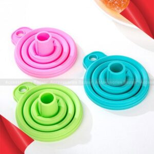 1 pc Funnel High Quality Mini Silicone Gel Foldable Hopper Kitchen