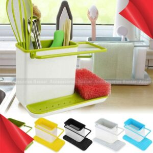 3 in 1 Kitchen Sink Organizer Draining Holder Towel Rack