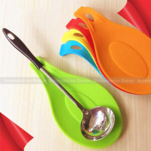 Silicone Spoon Insulation Mat Heat Resistant Placemat Tray Spoon