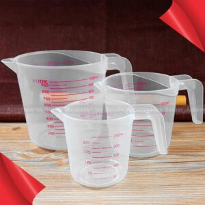 250,500,1000 ML Plastic Measuring Cup Jug Pour Spout Surface Kitchen