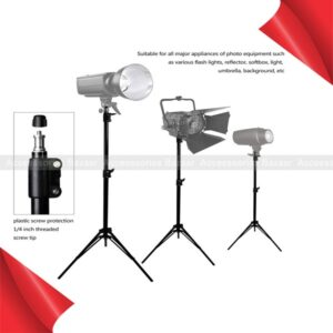 7ft Aluminum Tripod Adjustable Portable With Mobile Holder