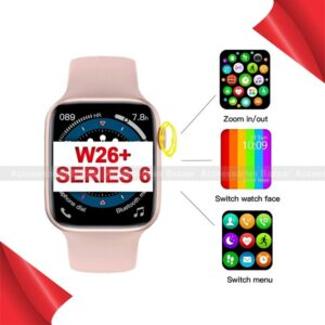 W26+ Smart Watch 1.75 Full Screen Bluetooth Call Crown Working