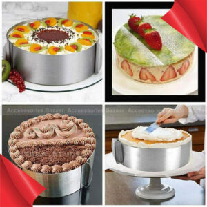 Circle Adjustable Stainless Bakeware Ring Tool Mousse Cake