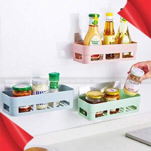 Kitchen Bathroom Shelf Wall Holder Storage Rack