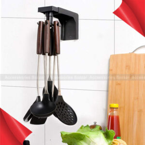 Retractable 360° Rotating Punch Free Hook Holder
