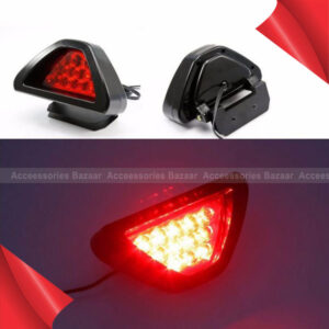 Universal F1 Style 12 LED Red Rear Tail Third Brake Stop Safety Car Light Lamp