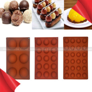 Half Ball Silicone Pudding Chocolate Candy Mold Cake Decor Baking Mould Tools