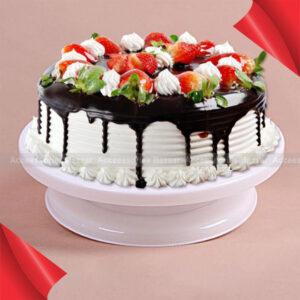 Cake Plate Rotating Stand Platform Turn table Round Cake Pan