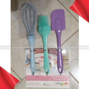 3 pcs Silicone Whisk Basting Brush And Spatula