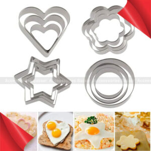 12 Pcs Stainless Steel Cookie Biscuit Cutter Set