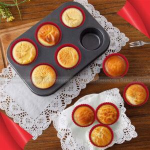 6 Cupcake Muffin Baking Tray Non-Stick Bake ware Cakes