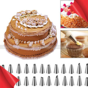 Stainless Steel Cake Icing Pastry Nozzles Decorating Pen 24 Pcs Tools