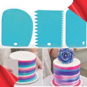 3PCS Colorful Multifunctional Irregular Teeth Edge DIY Cream Scraper Set