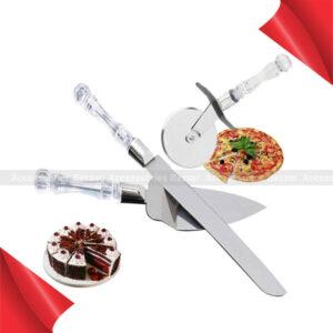 3 Piece Stainless Steel Cake Knife Server Set