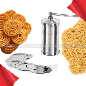Stainless Steel Pasta Maker Sev Maker With 6 Different Jali