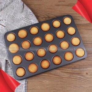 24 Mini Cupcake Non-Stick Baking Pan Tray Tin Cupcake