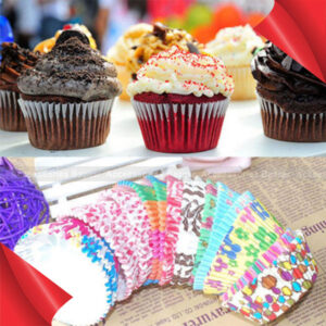 100Pcs Colorful Paper Cake Cupcake Liner Case Party Wrapper Muffin Baking Cups