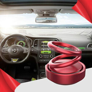 Car Air Freshener Suspension Double Ring 360 Degree Rotating With Solar energy