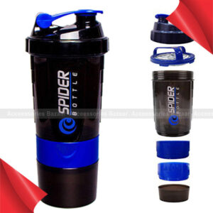 Spider Bottle Protein & Multi Use Shaker With 2Go Solution Bottle 500Ml