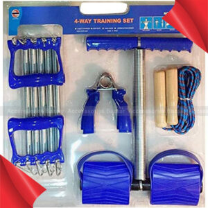 4 Way Training Set Tummy Trimmer Chest Expander Jump Rope Grips