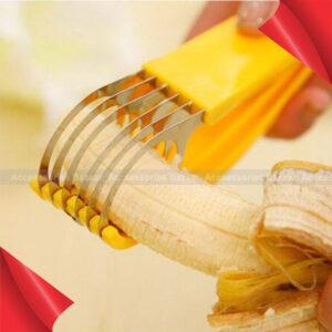 Stainless Steel Banana Cutter Fruit Vegetable Sausage Slicer Salad