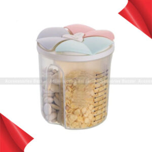 Kitchen Lid Dried Food Container Bottle Jar Plastic Grain Storage Clear Cover