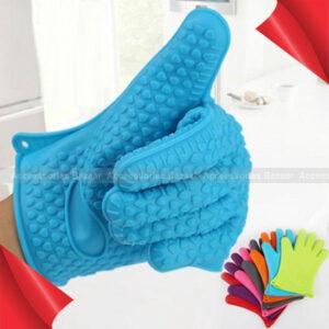 Silicone Kitchen Heat Resistant Glove Pot Holder Baking BBQ Cooking Oven Mitt