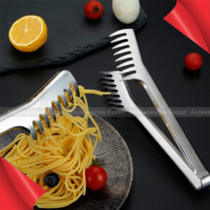 Stainless Steel Spaghetti Noodles Tongs Thicker Multi tooth Cake Clip Salad
