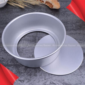 Aluminum Metal Removable Bottom Chiffon Cake  Baking Pan Mold Dish