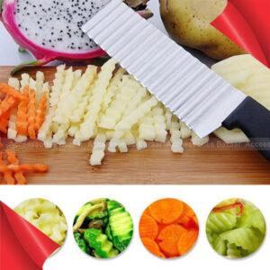 Potato Cutter Potato Chip Cutter Stainless Steel Serrated Blade