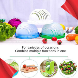 Salad Cutter Bowl Vegetable And Fruit Cutting Bowl Healthy Fresh Easy To Operate