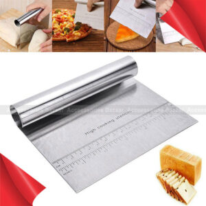 Stainless Steel Pastry Bench Scraper Dough Cutter Pizza Cake Cookies Divider