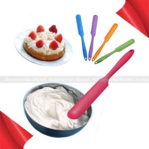 1Pc Silicone Batter Spatula Cake Cream Mixer long Handled Models Baking Scraper